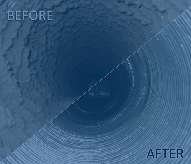 Before and After Duct Cleaning Services from Bridge City